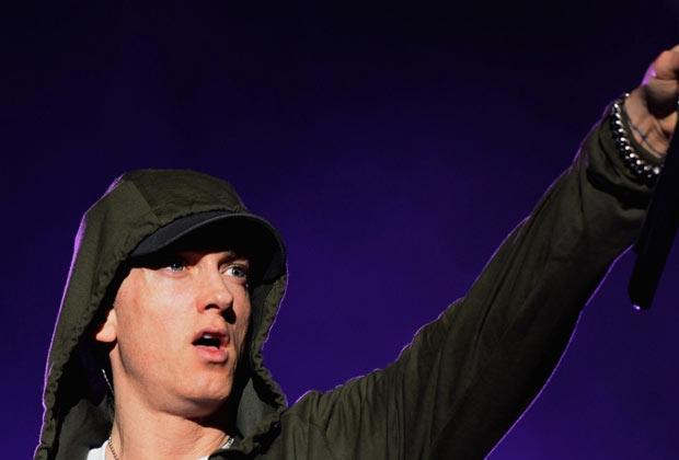 O rapper Eminem no Lollapalooza Chicago. (Imagem: Reprodução)