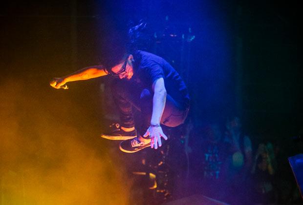 Skrillex no último dia de Lollapalooza Chicago. (Imagem: Reprodução)