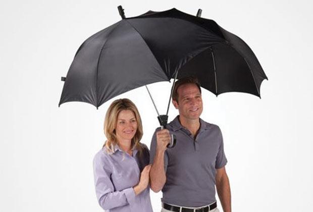 Guarda-Chuva duplo e encaixável. (Imagem: Reprodução)