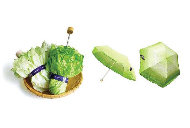Guarda-Chuva de vegetais. (Imagem: Reprodução)