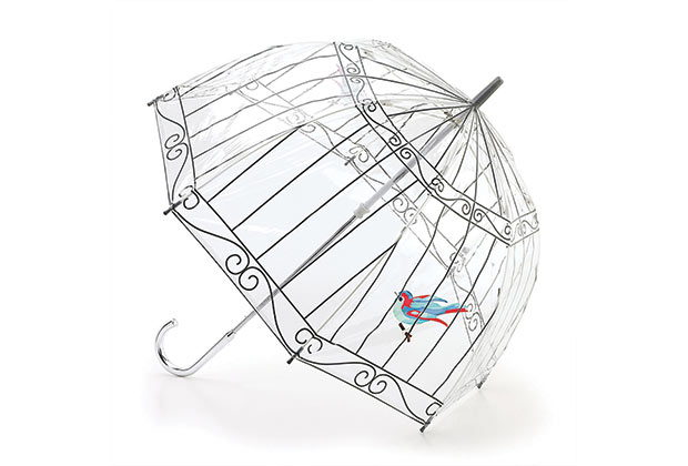 Guarda- Chuva de gaiola. (Imagem: Reprodução)
