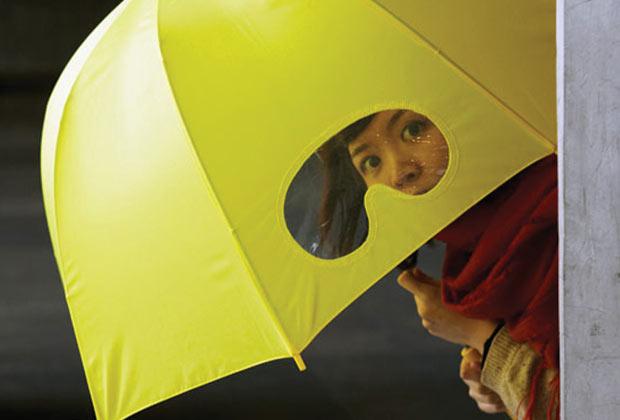 Guarda-Chuva com visor (Imagem: Reprodução)