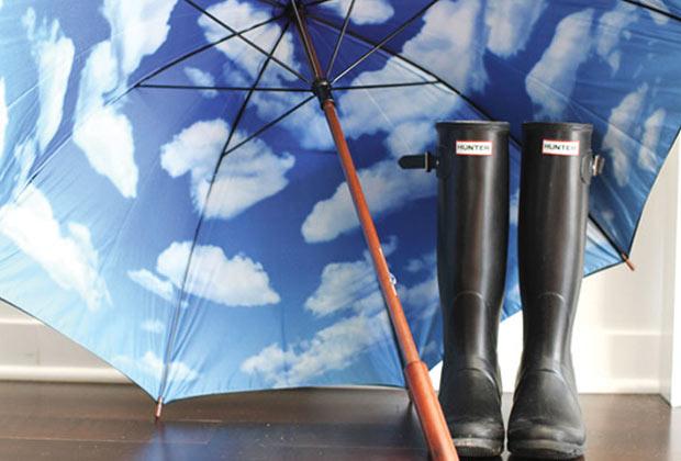Guarda-Chuva com céu falso (Imagem: Reprodução)