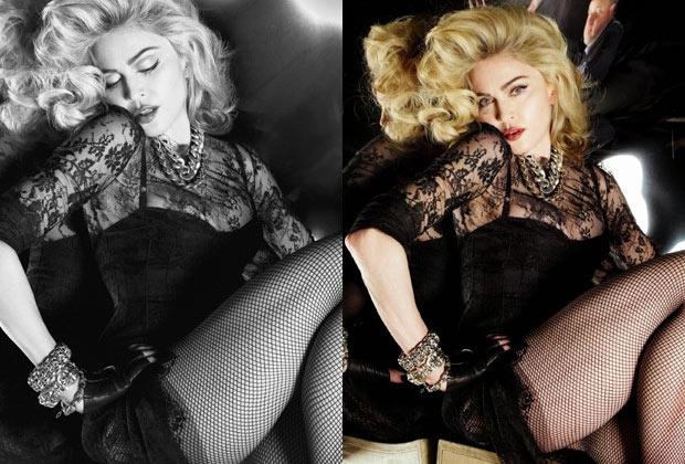 Madonna sem photoshop